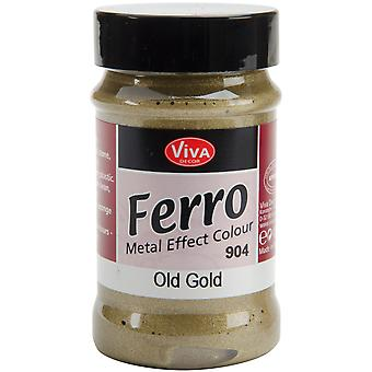 Ferro Metal Effect Textured Paint 3 Ounces Old Gold Vvferro 2904