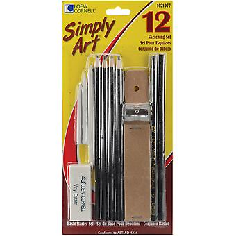 Simply Art Sketching Set 12 Pieces 1021077