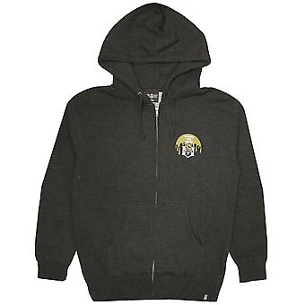 Rebel8 Cover The 8 Zip Up Hoodie Charcoal Heather