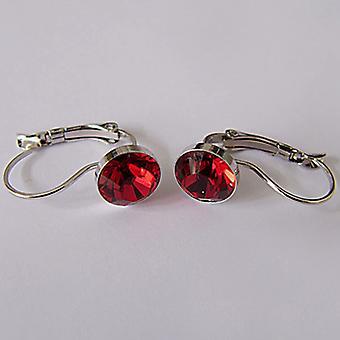 Red crystal drop earrings EMB7.5