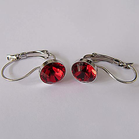 Red crystal drop earrings EMB7.5