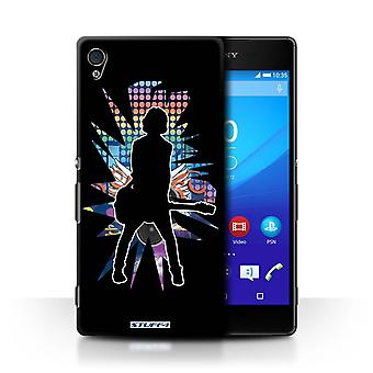 STUFF4 Case/Cover for Sony Xperia Z4v/E6508/Emotion Black/Rock Star Pose