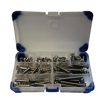 275 Piece Pozi Countersunk Machine Set Screws A2 Stainless Steel M4 4MM