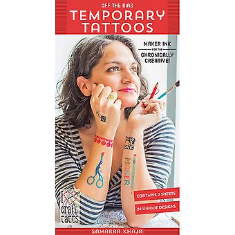 C & T Publishing-Off The Bias Temporary Tattoos CT-53151