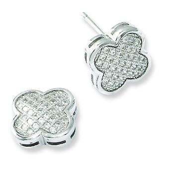 Sterling Silver e CZ fantasia Post orecchini