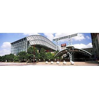 Honkbalveld Minute Maid Park Houston Texas USA Poster Print