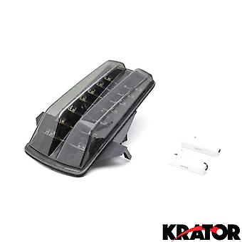 Smoke LED Tail Light Integrated with Turn Signals For 2006-2007 Suzuki SV650 / SV650S / SV650A