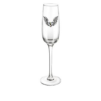 Alchemy Gothic Wings of Love Champagne Glass