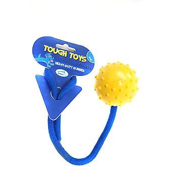 Happy Pet 'tough Toy' Floating Rope Ball Studded 5cm (2
