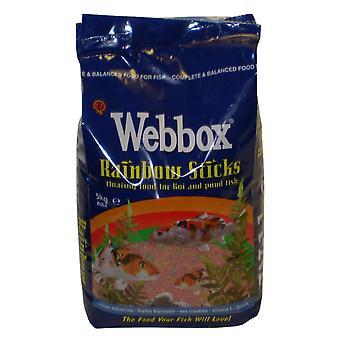 Webbox Rainbow holder sig flydende fisk mad til Koi & dam fisk 5kg