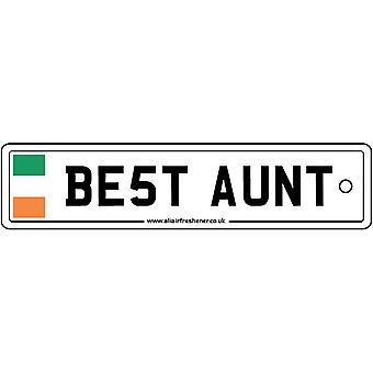 Ireland - Best Aunt License Plate Car Air Freshener