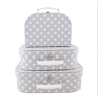 Sass and Belle Nordic Star Suitcase Set of 3 - Home Wedding Decorative Suitcases