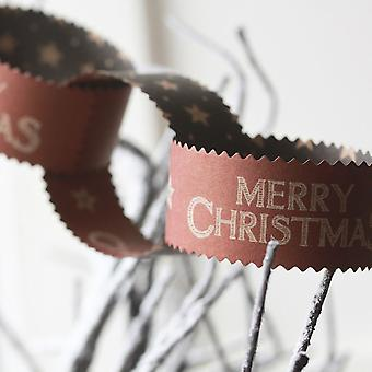 East of India Merry Christmas Paper Chains Vintage Style x 3m
