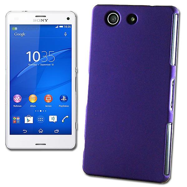 Hard Case Rubber Purple for Sony Xperia Z3 Compact D5803 M55W