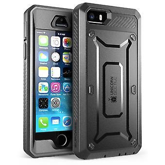 iPhone Case SE, SUPCASE, Einhorn-Käfer-PRO-Serie, Iphone SE Fall, Iphone SE, Protective Case-schwarz/schwarz
