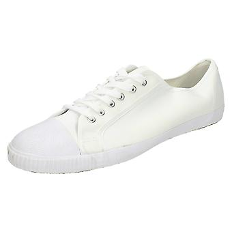 Boys Spot On Canvas Lace Up Shoe XCSG47