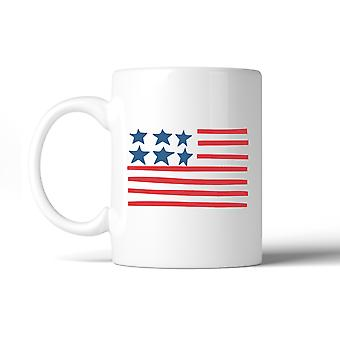 USA Flag Coffee Mug 11oz Cute Design Independence Day Gift Mug