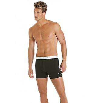 Haigman LX MEN BUTTON BOXER BLACK