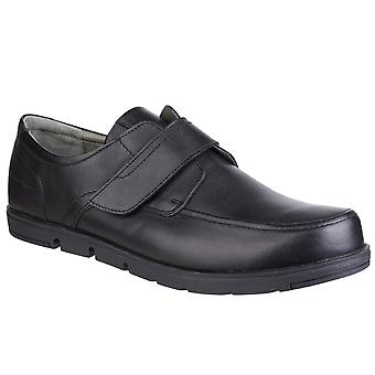 Hush Puppies Nova Leather Mens Casual Rip Tape Shoes