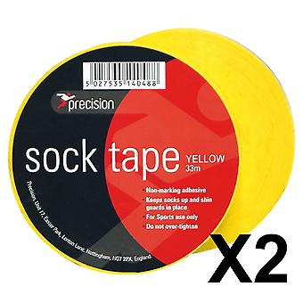 Precision Sock Tape Yellow x2