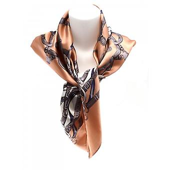 W.A.T Square Pale Pink Baroque Print Square Polyester Scarf