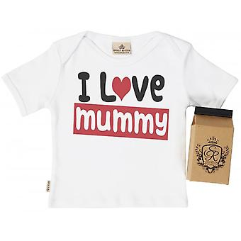 Spoilt Rotten I Love Mummy Baby T-Shirt 100% Organic Cotton