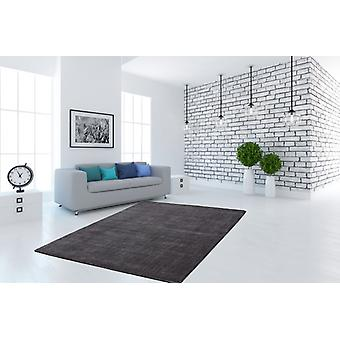 Flat pile rug hand-woven cotton rugs flat pile high quality anthracite