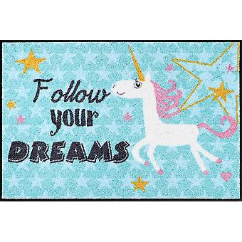 Salon lion doormat Unicorn dreams 50 x 75 cm washable Unicorn Unicorn doormat