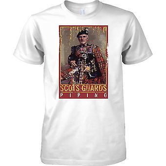 Scots guardas Piping-Band militar-camiseta Kids