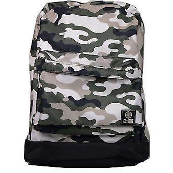 Franklin & Marshall Green Mulit-coloured Camoflauge Reversible Backpack