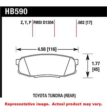 Hawk Truck/SUV Brake Pads HB590Y.682 Fits:LEXUS 2008 - 2014 LX570  Position: Re