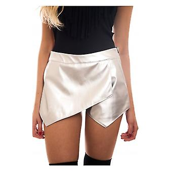 Die Mode Bibel Starlight Silber Metallic-Leder Skort