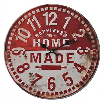 Balance wall clock 40 cm Analog Red/White