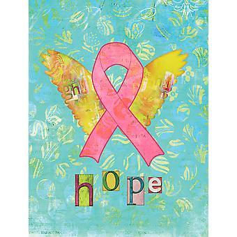 Bandiera di speranza Angel seno cancro nastro rosa tela dimensione casa