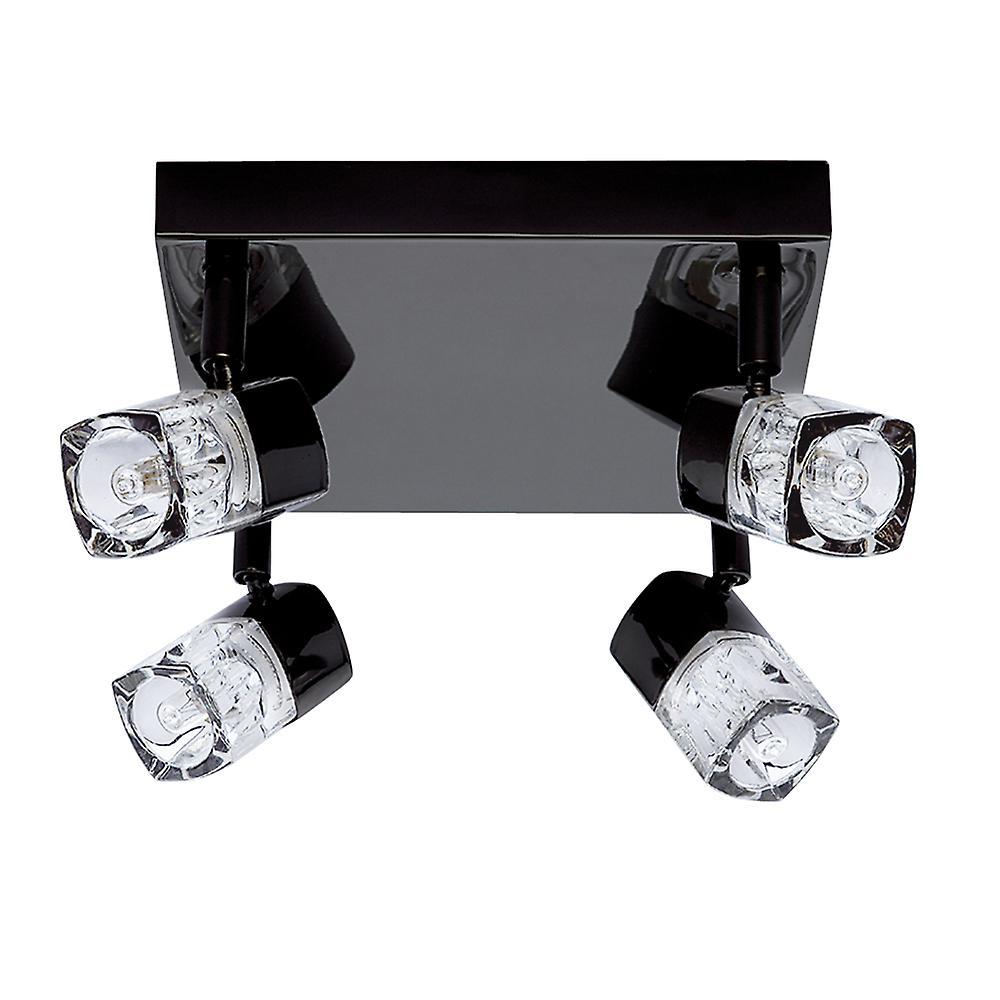 Searchlight 7884BC Blocs 4 Lt Black Chrome Spotlight Ceiling Fitting