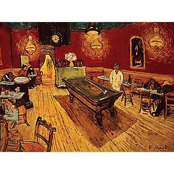 Night Caf with Pool Table Poster Print by Vincent van Gogh (36 x 24)