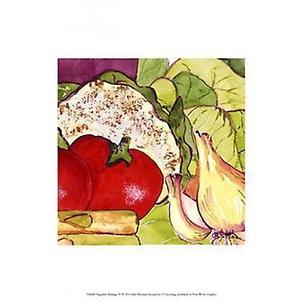 Vegetable Melange IV Poster Print by Julia Minasian (13 x 13)