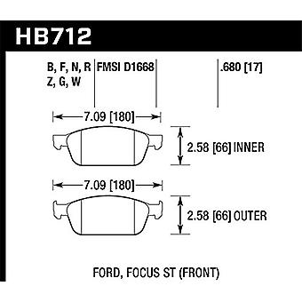 Hawk Performance HB712R.680 Disc Brake Pad Street Race w/0.680 Thickness Disc Brake Pad