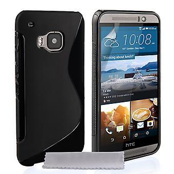Caseflex HTC M9 Silikon Gel S-Line-Gehäuse - schwarz