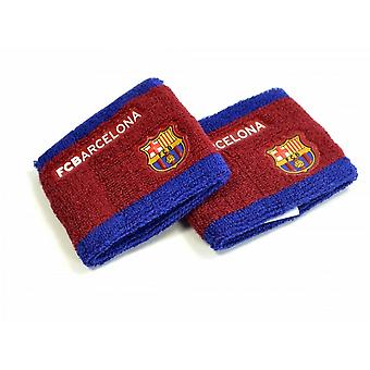FC Barcelona Unisex Side Logo Wristbands Pack Of 2