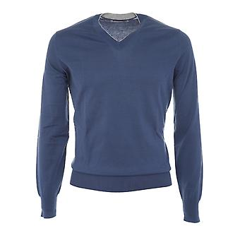 Brunello Cucinelli mens M2900162CZ963 Blau cotton sweater
