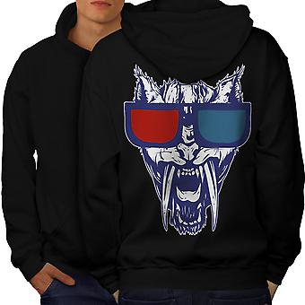 Butin tigre 3D Fashion Men BlackHoodie dos | Wellcoda