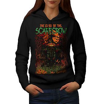 Scarecrow Night Horror Women BlackHoodie | Wellcoda