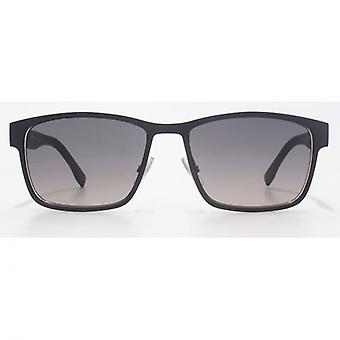 Hugo Boss Metal Square Sunglasses In Matte Blue