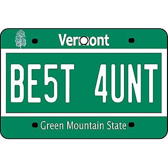 Vermont - Best Aunt License Plate Car Air Freshener