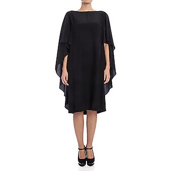 Alberta Ferretti women's A0421118555 black silk dress