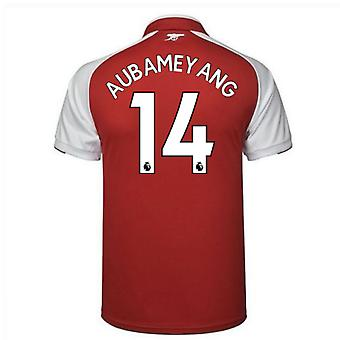 2017-18 Arsenal Home Shirt (Aubameyang 14)