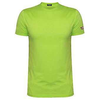 DSQUARED2 Underwear DSQUARED2 Lime Green Melange T-Shirt