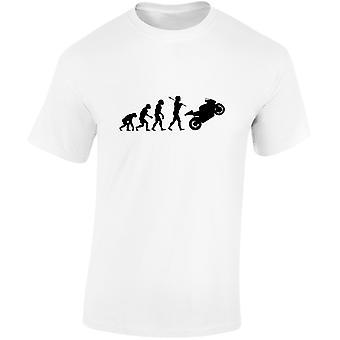 Cyklar Evolution Mens motorcykel T-Shirt 10 färger (S-3XL) av swagwear