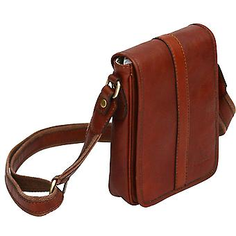 Genuine Leather Small Side Shoulder Bag Unisex Case Carry Made In Italy